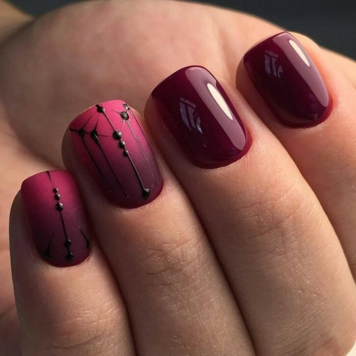 Трендовый дизайн коротких ногтей 2021